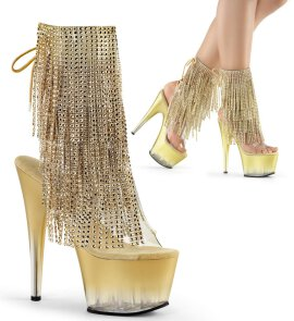 Pleaser Stiefelette ADORE-1017RSFT Gold