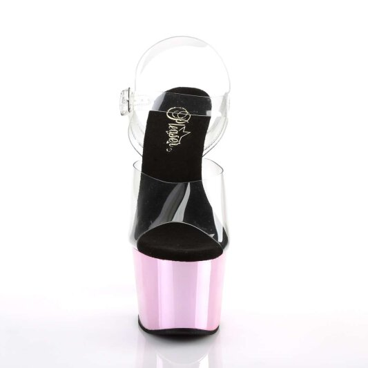 Pleaser Sandalette ADORE-708 Transparent Pink Chrom