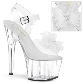 Pleaser ADORE-708BFL Clear-White/Clear