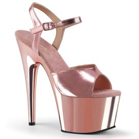 Pleaser Sandalette ADORE-709 Rose-Gold Metallic Chrom