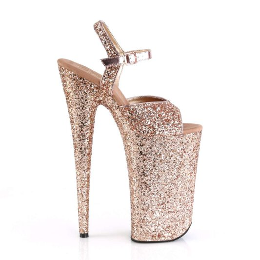 Pleaser Sandalette BEYOND-010LG Rose-Gold Glitter