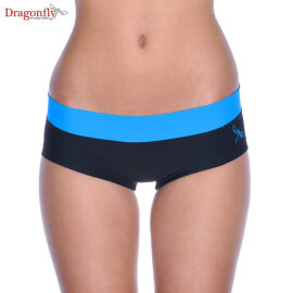 Dragonfly Shorts Hot Pants S Schwarz / Himmelblau