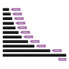 X-Pole Verlängerung Pulverbeschichtet Schwarz