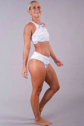 Off the Pole Shorts Classic Scrunch White Marble