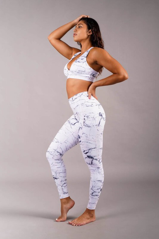 Off the Pole Leggings Iconic White Marble