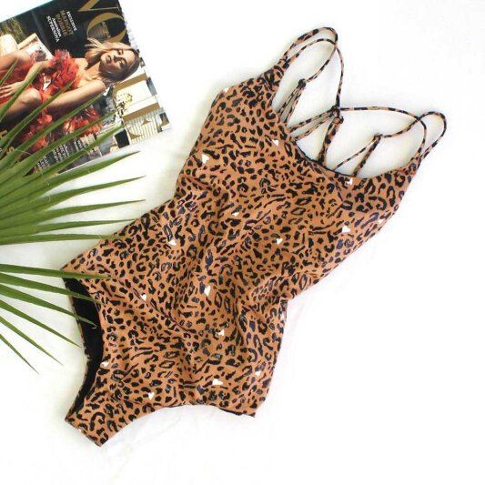 Lunalae Bodysuit Sticky Grip Kiara Brown Leopard