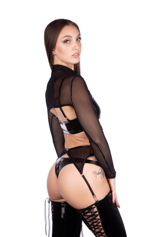 Naughty Thoughts Shrug XXX Rated See Through Schwarz