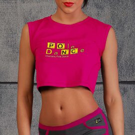 i-Style Crop Top Chemistry S Pink