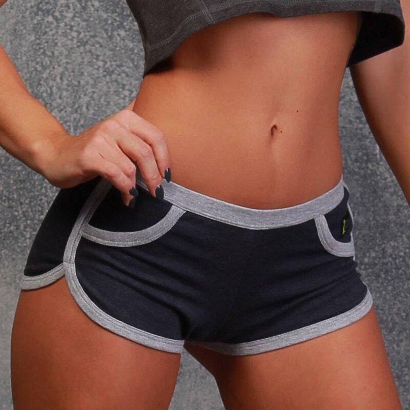 I-Style Shorts Edelweiss L Dunkelblau / Grau