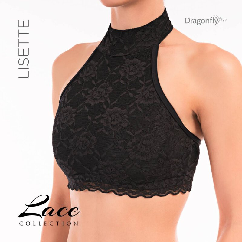 Dragonfly Top Lisette Lace Black