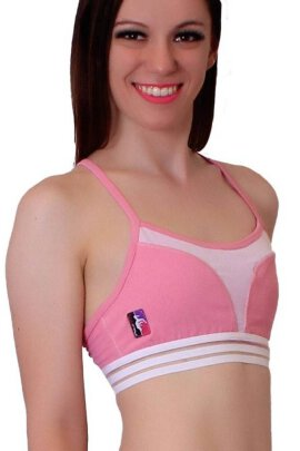 PoleFit Petal Mesh Top Dusty Rose
