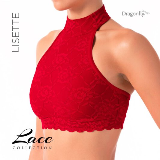 Dragonfly Top Lisette Lace Red