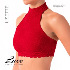 Dragonfly Top Lisette Lace Red S
