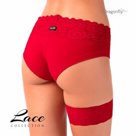 Dragonfly Lace Red Limited Strumpfband