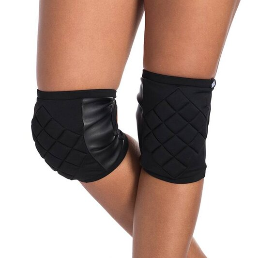 Poledancerka Knee Pads Black with Pockets for Extra Pads