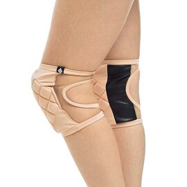 Poledancerka Knee Pads Nude with Pockets for Extra Pads L