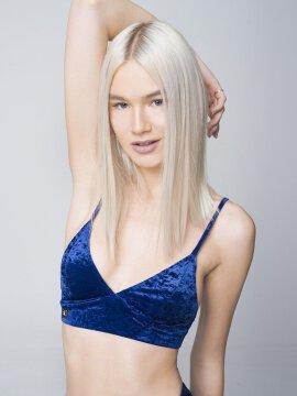 RAD Monica Top Velvet Navy Blue